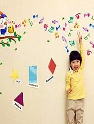 Createforlife Cartoon ® oiseau de chant dans les pièce de crèche Wall Sticker Art Stickers muraux Arbre Enfants