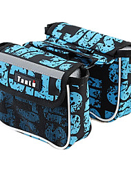 Bike Frame Bag / Cycle Bags Waterproof / Reflective Strip / Wearable Cycling/Bike Mesh / 1680D Polyester Dark Blue