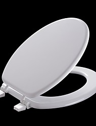 Wood Milano ® American Standard Elongated White Molded Wood Toilet Seat