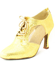 Customizable Women's Dance Shoes Modern Leatherette Customized Heel Black/Silver/Gold/Blue/Red