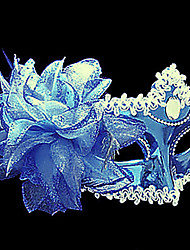Pure Blue Flower purfle plastique demi-masque