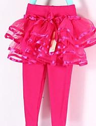 Girl's Cotton Blend/Polyester Skirt/Leggings , Summer