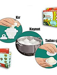 Eggies Hard Boil Eggs Without the Shell Egg Cooker Separator 6pcs, Plastic 19x16x19cm