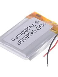 3.7V 280mAh Lithium Polymer Batterie pour les téléphones portables MP3 MP4 (4 * 25 * 30)