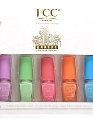 FCC ® 5PCS Лак для ногтей Набор с естественным и экологически чистый Состав Наслаждайтесь Series Candy