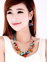MIKI Gemstone Link Necklace