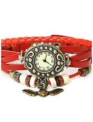 Dare U Genuine Leather Wings Pendant Bracelet Wristwatches