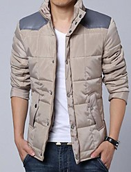 Men's Regular Parka Coat Pure Long Sleeve