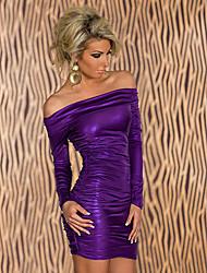 Women's Dresses , Silk Casual Sexy Queen