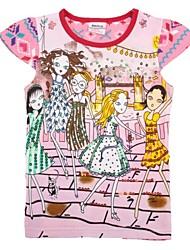 Girl's Cotton Tee , Summer Short Sleeve