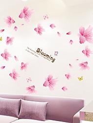 Lily sagomati bello romantico Wall Stickers plastica (X1pcs colore rosa)