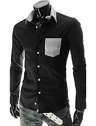 Yess New Style Stripe Slim Shirt(White,Black)