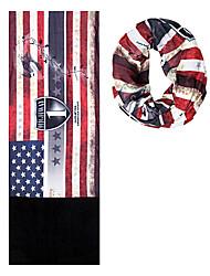 KORAMAN Outdoor American Flag Cycling Fleece and Polyester Dry Amazing Magic Scarf Headband