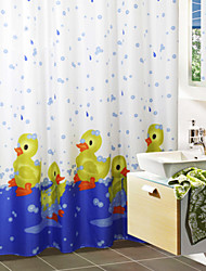 Cute Cartoon Bath Duck Shower Curtain