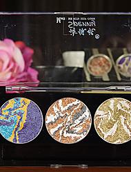 3 Palette di ombretti Gamma di colori dell'ombretto Cipria Normale Trucco giornaliero