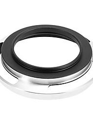 Haute Qualité 40,6 Argent Lens Hood sans Dark Corner
