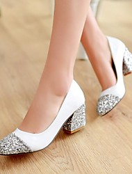 Women's Chunky Heel Round Toe Pumps/Heels Shoes (More Colors)