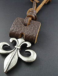 European Style Flower-de-luce Pendant Necklace