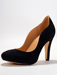 BC Women's Heel Black Pointed Toe Pumps shoes