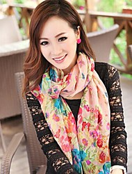 Ms. Women's Korean 2014 New Winter Floral Cotton And Linen Beach Towel Big Shawl