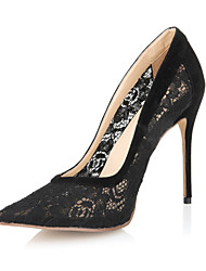 Lace Women's Stiletto Heel Pointed Toe Pumps Shoes