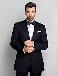 Dark Blue 100% Wool Slim Fit Two-Piece Tuxedo