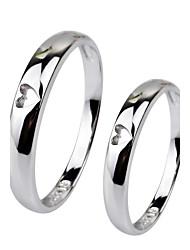 I FREE®Unisex Heart Shape S925 Silver Couple Rings 1 pc