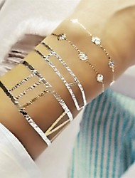 1Pcs Long Bracelet  Jewelry Inspired Metallic Gold and Silver Tattoo Stickers Temporary Tattoos