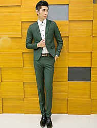 Men's High-End Slim Two-Piece Business Suit (Trousers + Coat)