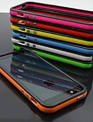DF Dual Color Frame TPU Soft Case for iPhone 4/4S(Assorted Color)