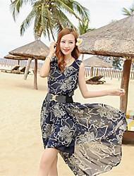Women's Chiffon Slim Elegant Fashion Long Design Idea Beach Club Dress