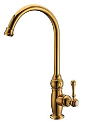 Antique Tall/­High Arc Deck Mounted Rotatable with  Ceramic Valve Single Handle One Hole for  Ti-PVD , Kitchen faucet