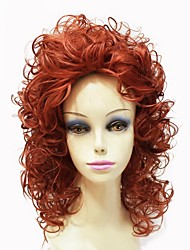 Capless Top Grade Synthetic Medium Length Poppy Curly Women Wig