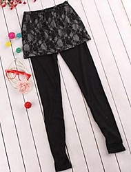 Women's Fashion Sexy Clothing Pu Legging With Skirt
