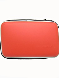 eva dura cubierta de la caja de transporte de viaje bolsa de piel de manga bolsa para nintendo 3ds xl / ll