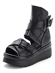 Damenschuhe slingback Keilabsatz Ledersandalen Schuhe