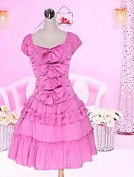 Short Sleeve Short Pink Cotton Sweet Lolita Dress