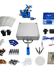 1 Gun Complete No Ink Tattoo Kit with Stamping Machine and Blue LCD Screen Power Supply