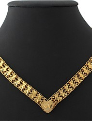 U7 Women's Vintage 18K Chunky Yellow Gold Plated Choker Necklace Chain 18Inches 46CM