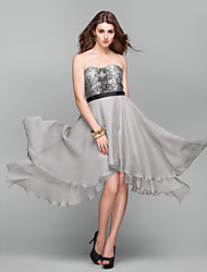 Cocktail Party/Holiday/Prom Dress Plus Sizes A-line Sweetheart Knee-length Sequined