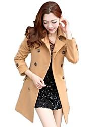 der neuen Frauen Wollen Mantel mit Revers