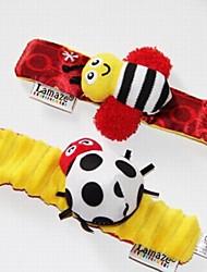 bebê pulso chocalhos mãos foots localizadores de brinquedos macios preto