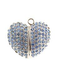 zp 64gb padrão de coração azul jóia unidade flash USB estilo de metal do diamante de Bling