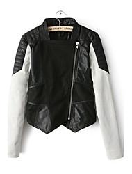 Women PU/Faux Leather Top
