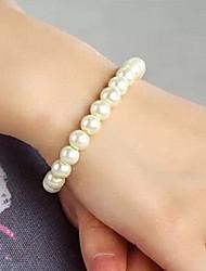 moda shixin® pulseira elástica branco pérola vertente (1 pc)
