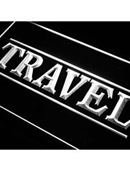 agencia de viajes I284 señal de luz de neón servicio