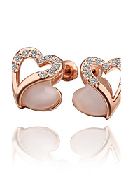 MELES's Gold Heart Earring