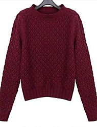 AISNI™Women's New Fashion Round Collar Long Sleeve  Sweater