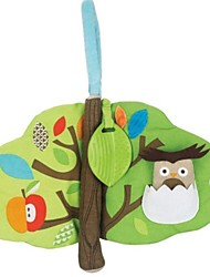 Treetop Forest Shaped Teether Cloth Book for Baby Soft Activity toys