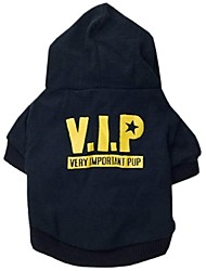 Cute VIP Style with Hoodie Cotton T-Shirt for Pets Dogs(Assorted Size)